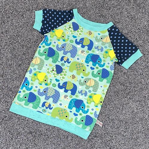 98 | T-Shirt - lustige Elefanten mint