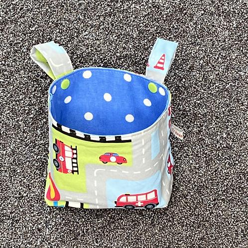 Lenkertasche - Auf der Straße blau