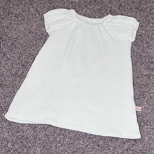 86/92 | Musselinkleid - Uni Dusty mint
