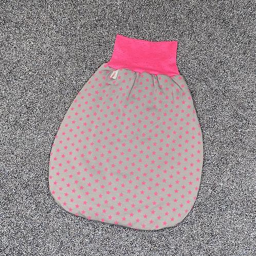 50-62 |Strampelsack - Sternenmeer grau pink