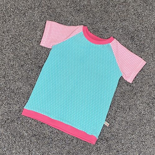 80 | T-Shirt - Bio Kuller mint rosa