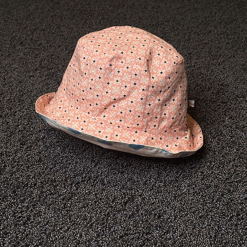 M | Fischerhut - Blümchen rosa & Herzchen
