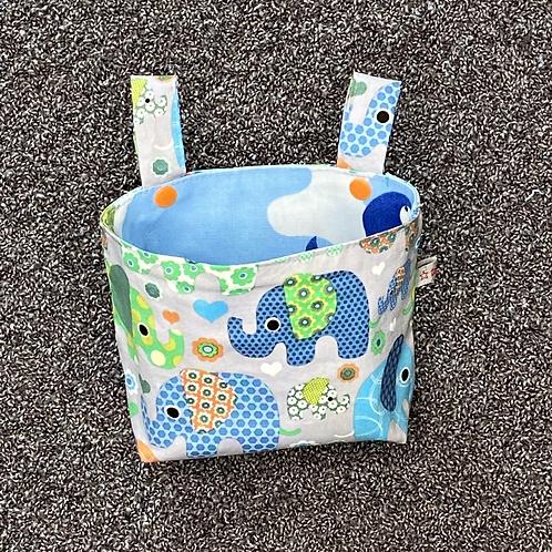Lenkertasche - lustige Elefanten grau hellblau