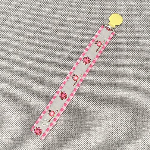 Schnullerband - Eulchen pink