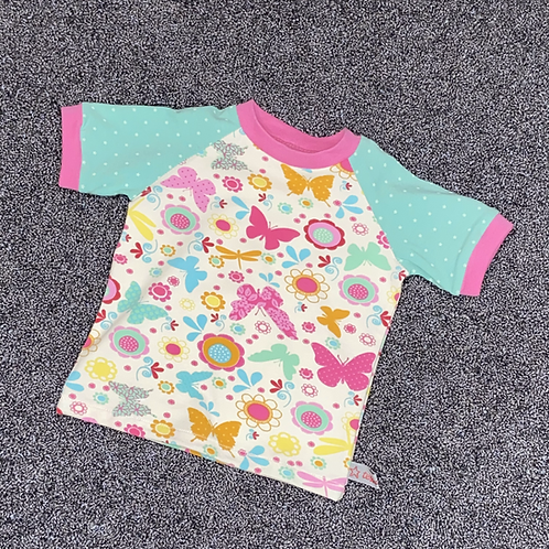 80   T-Shirt - Bunter Schmetterling