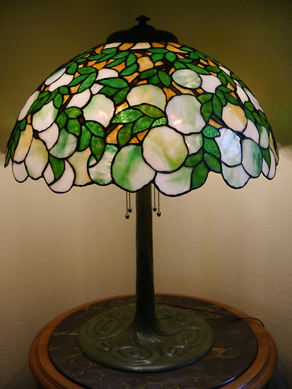 Colonial Snowball Hydrangea Lamp -SOLD