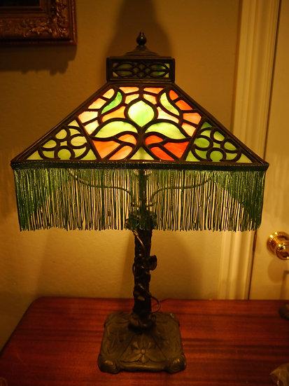 Art Nouveau Panel Lamp