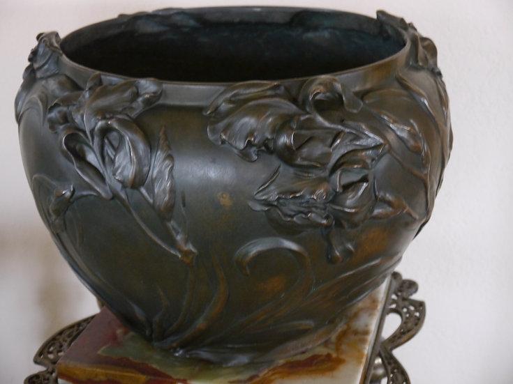 Art Nouveau Vanzype Bronze Planter