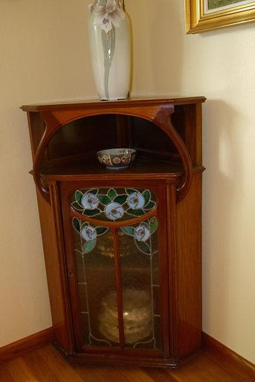 Art Nouveau Corner Cabinet By Duru
