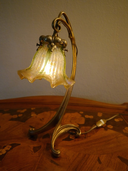 Art Nouveau Table Lamp  SOLD