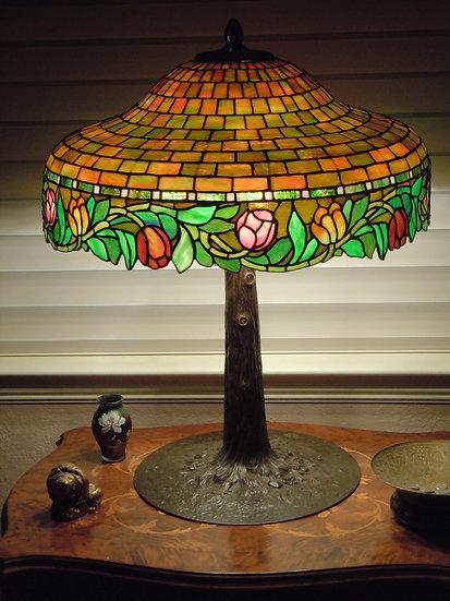 Suess Poppy Leaded Lamp-SOLD