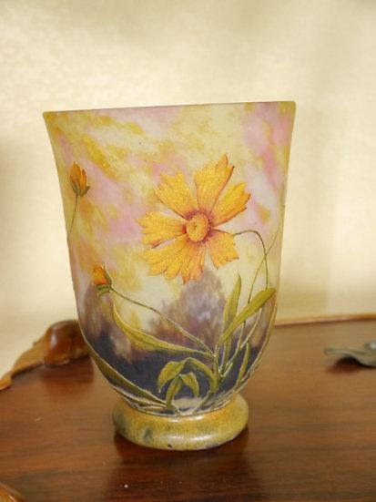 Daum Nancy Enamel Vase