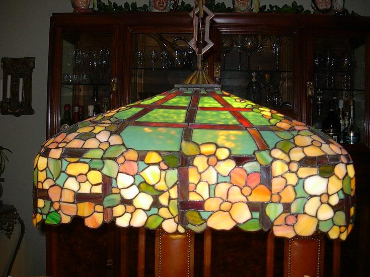 Handel Hanging Leaded Lamp-SOLD