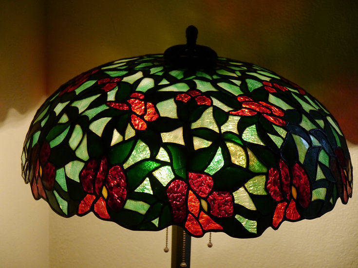Whaley Leaded Floral Lamp - SOLD