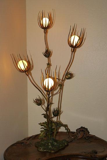 Austrian Art Nouveau Thistle Lamp