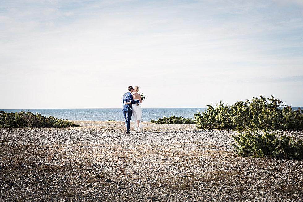 Idylliskt bröllop på Fårö på Gotland