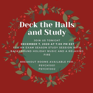 Deck the Halls and Study