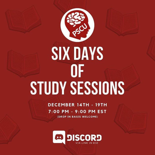 Six Days of Study Sessions