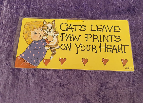 Paw Prints On Your Heart Magnet