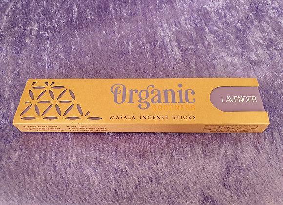 Lavender - Organic Incense Sticks x12