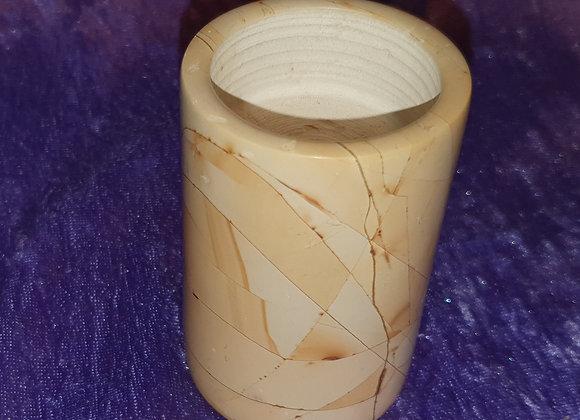 Marble Cylinder Tealight Holder