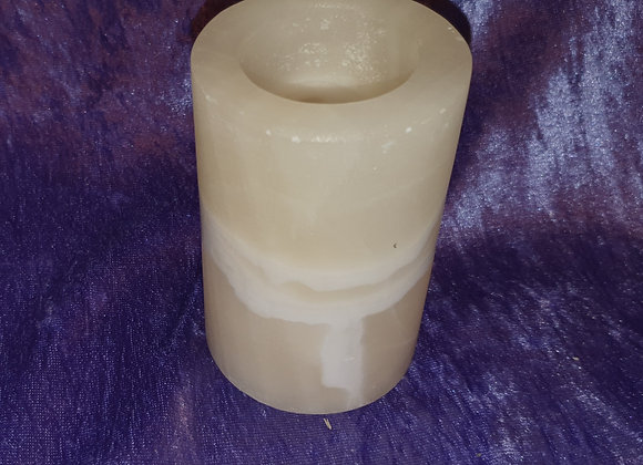 Mexican Onyx Cylinder Tealight Holder