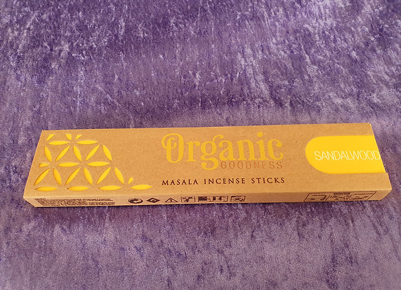 Sandalwood - Organic Incense Sticks x12