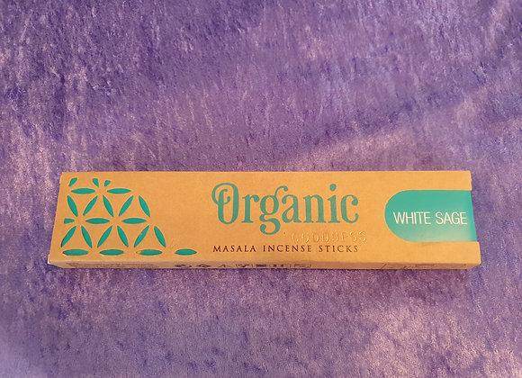 White Sage - Organic Incense Sticks x12