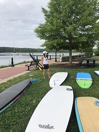Jenn and boards wharf.HEIC