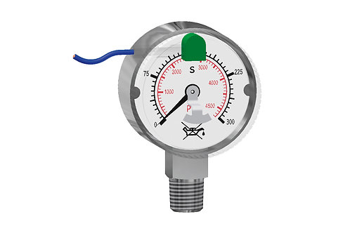 "Kontaktmanometer KI 50, NPT 1/4"" Genauigkeitsklasse 2,5"