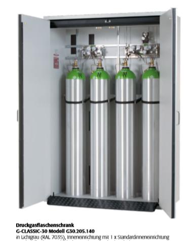 Druckgasflaschenschrank G-CLASSIC-30 für 4 Flasche a 50 Liter