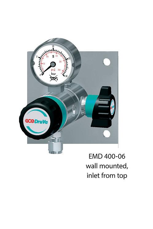 Edelstahl Entnahmedruckminderer auf Platte, 40 BAR, 1-stufig EMD 400-06