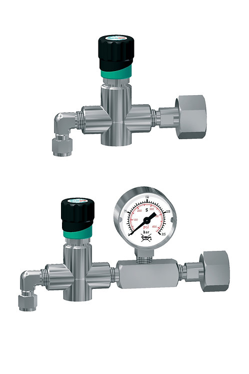 Flaschenanschlussventil mit Manometer 50bar FAV 500-37