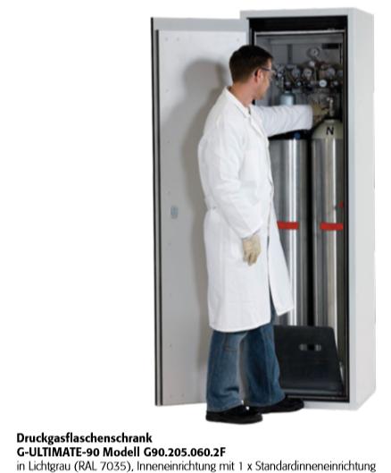 Druckgasflaschenschrank G-ULTIMATE-90  für bis zu 2 Flaschen a 50 Lite