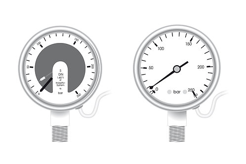 "Kontaktmanometer KI 63, KR 63, NPT 1/4"" Genauigkeitsklasse 1,6"