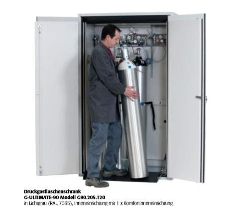 Druckgasflaschenschrank G-ULTIMATE-90  für bis zu 4 Flaschen a 50 Liter