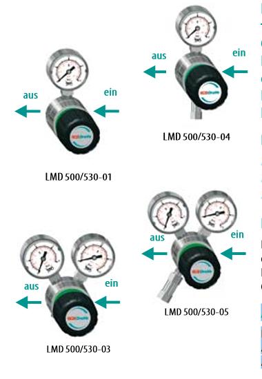 Leitungsdruckminderer 1-stufig 230bar LMD 500 -01/-03 MESSING