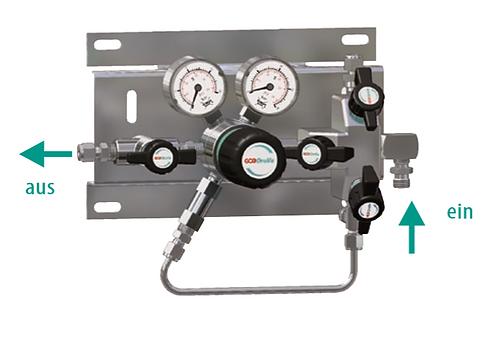 Entspannungsstation 1-stufig 230/315 bar, mit Fremdgasspülung SMD 500/530-27