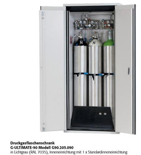 Druckgasflaschenschrank G-ULTIMATE-90  für bis zu 3 Flaschen a 50 Liter