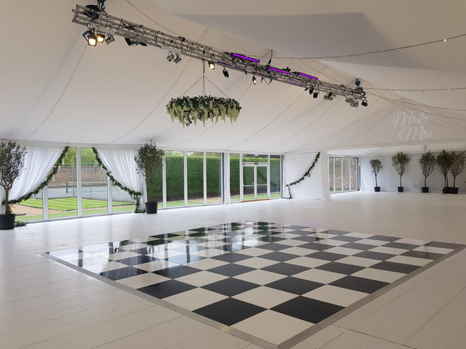 Chequered Dancefloor Hire - Still a timeless classic!