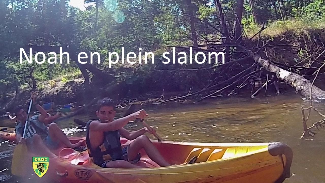 3 - Noa en plein slalom