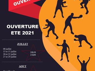 Ouverture de salle Été 2021