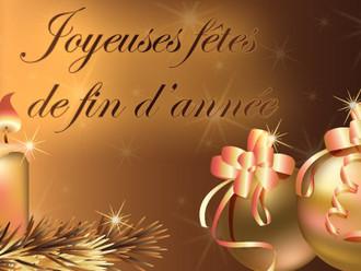 Bonnes vacances et joyeuses fêtes