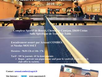 Stage Tennis de Table