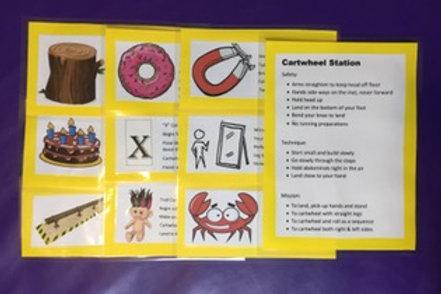 Gymnastic Cards Cartwheel set