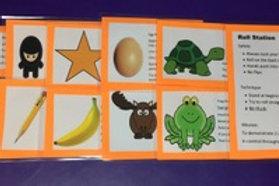 Gymnastic cards Roll set
