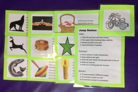 Gymnastics Cards Jump Set