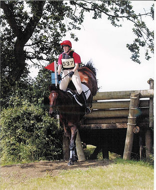 Gillian Higgins, advanced event rider, with her horse Quake at Aston-Le-Walls advanced BE event
