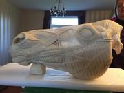 Horse head anatomy sculpture