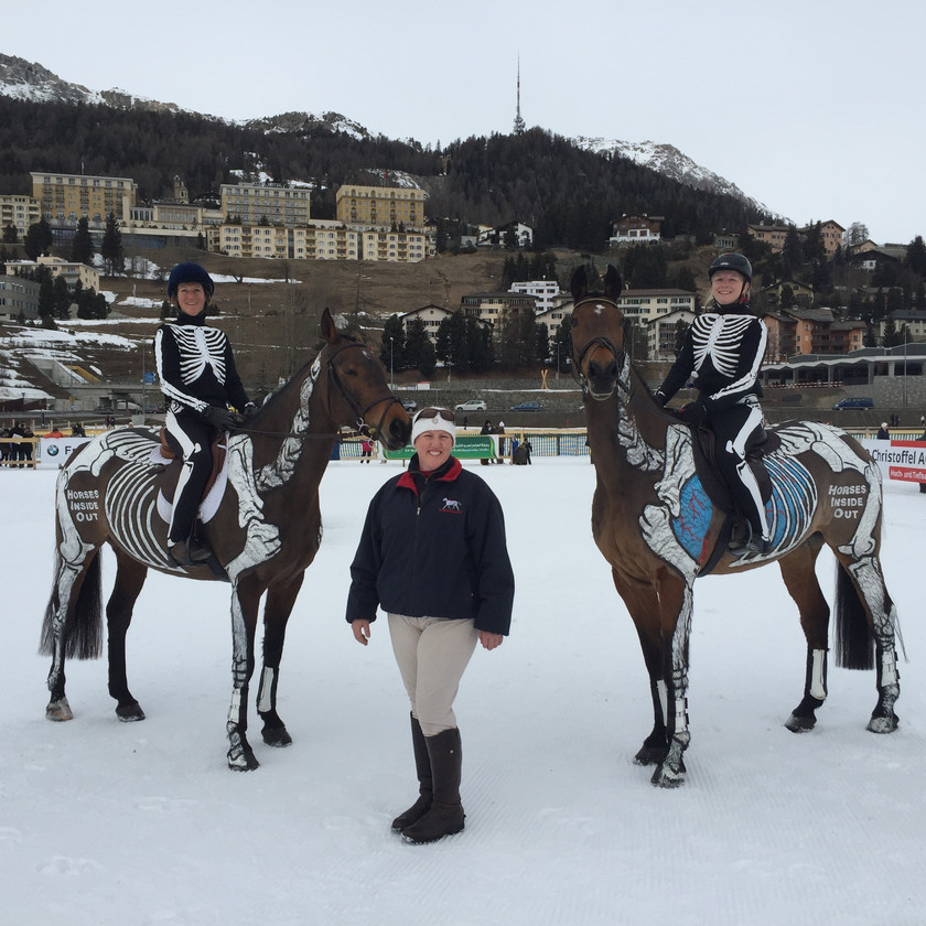 Gillian and team at St Moritz
